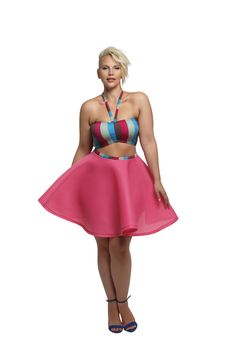 Barbie' Bandeau - Stripe Multi Color
