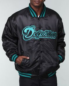Shops Indiaviolet - Buy From The Best: Nba, Mlb, Nfl Gear Men Miami Dolphins Custom Satin Jacket,$89.99