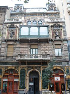 Art nouveau shop front, Vaci Ut, Budapest