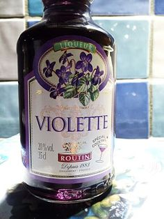 Famous violet liqueur from Toulouse, France.