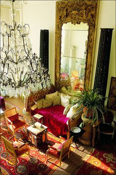 This is the home of designer Loulou de la Falaise, former creative partner and fashion muse of famous designer Yves Saint Laurent (view B).