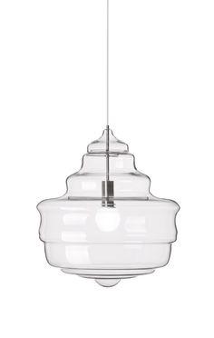 5 glazen hanglampen geïnspireerd door 5 klassieke kroonluchters