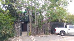 entrada piedra muro piedra