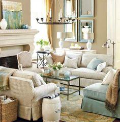 Pretty & serene living room.