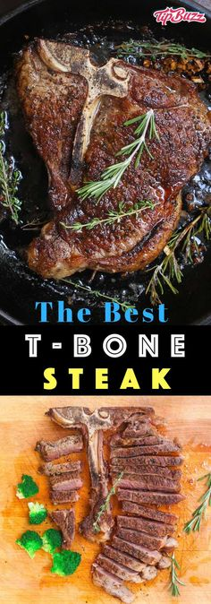 T-bone Steak seared to caramelized perfection on the outside and juicy in the mi. - T-bone Steak seared to caramelized perfection on the outside and juicy in the middle. Its full of f - Kitchen Recipes, Cooking Recipes, Healthy Recipes, Easy Recipes, Dinner Recipes, Captain America Birthday Cake, Hanger Steak, Good Food, Yummy Food