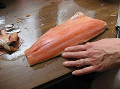 Salmon Ready For Slicing & To Brine