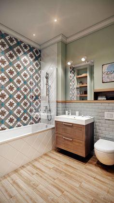 Modern Bathroom Decor, Bathroom Interior Design, Interior Design Living Room, Small Bathroom, Bad Inspiration, Bathroom Inspiration, Tropical Bedroom Decor, Bathroom Accent Wall, Table Haute