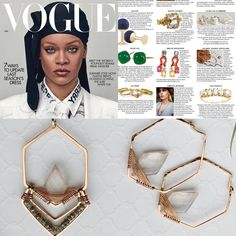 Gemstone Hexagon Hoop Earrings - Rose Quartz - As seen in Vogue! | Cristy's Jewelry Designs Jewelry Gifts, Fine Jewelry, Light Pink Rose, Blue Chalcedony, Gold Filled Jewelry, Rose Gold Earrings, Beautiful Gift Boxes, Jewelry Companies, Diamond Shapes