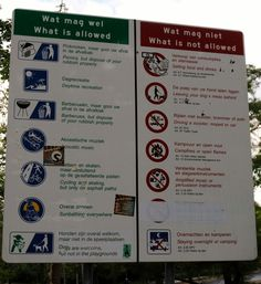 What you can and can't do in a park in Amsterdam