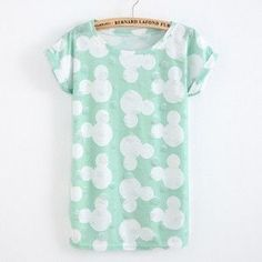 Summer Cool Fashion Tassel Design Hole T-shirt Micky Mouse Print Frayed Hole T Shirts Female Short Sleeve Sexy Thin Ladies Tops
