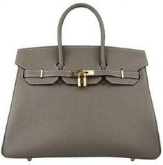 Hermes Birkin Bag 35 Dim Gray Gold Frockage: Hermes Birkin bag