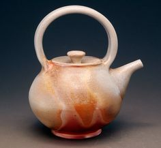 My friend makes these beautiful pots!! Beautiful Wood Fired Teapot with Built In by TheBrownPottery, $150.00