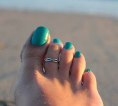 Sterling Silver Chain style Toe Ring Adjustable by Silversmith925