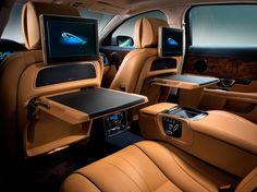 2014 Jaguar XJ amazing leather interior, carbon fiber and plenty of technology || @Marvelphile || #car #cars
