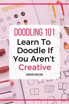 Afraid you aren't creative and can't create pretty doodles? Check out my guide on how I learned to doodle in my Bullet Journal. I know you will be able to create beautiful doodles and decorate your Bullet Journal spreads.