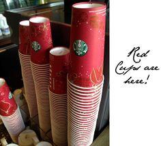 Starbucks Red Cups are coming! Whoop , whoop!