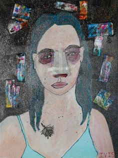 Buy Rhinoplasty, a Acrylic on Canvas by Tanya Koryagina from Russia. It portrays: Women, relevant to: meds, selfportrait, rhinoplasty, glitter, art with story I am inspired by the metamorphoses which are happen with the human body. In my works I try to convey my own feelings, which caused by rhinoplasty. It is both a physical inconvenience and a joy from the expectation of a miracle.
