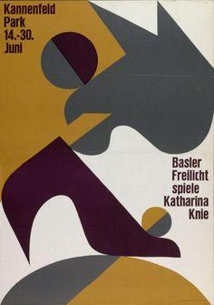 Basler Freilichtspiele - Katharina Knie - Kannfeld Park Basel-Plakat