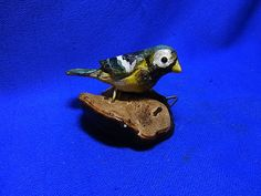 Vintage German Wood Carved Bird Wall Ornament Figurine #P1