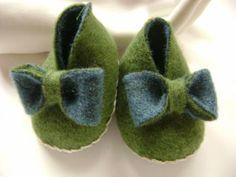 Scarpette neonato in lana doub