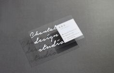 200 business cards frosted plastic stock with gold or silver chantal design studio business card design transparent reheart Images