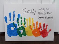 Rainbow Family Handprint Canvas