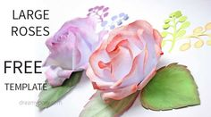 Easy to make best paper rose, FREE template and tutorial