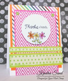 Luv 2 Scrap n' Make Cards: Your Next Stamp Challenge #21, Thank You Card