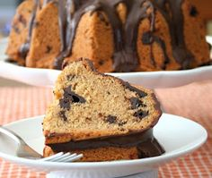 Peanut Butter Chocolate Chip Bundt Cake (Low Carb and Gluten-Free) from @Carolyn Ketchum