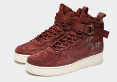 Nike SF-AF1 Mid Burgundy Available Now 47f326e0345