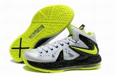 Nike LeBron 10 PS Elite Cool Grey Volt Black Shoes In best sale. The  fashion design lebron 10 ps elite shoes in cheap price. 2bb4fd8569dd