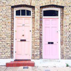 Peachy doors on Columbia road & Emma Hill\u0027s Pink Googly Eye Notting Hill Front Door - Cris ... Pezcame.Com