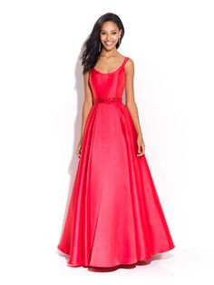 A smooth mikado ballgown is a gorgeous backdrop for all your favorite accessories.