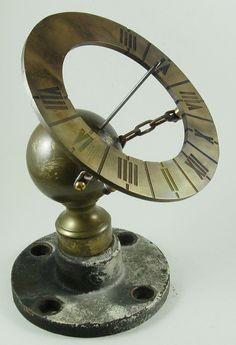 """This is a """"Delta"""" version of my new Bedknobs and Broomsticks sundial project. Here the upcycled parts are loosely connected to see if they fit. Much work remains to be done with the ever-present potential for a screw-up:-)"""