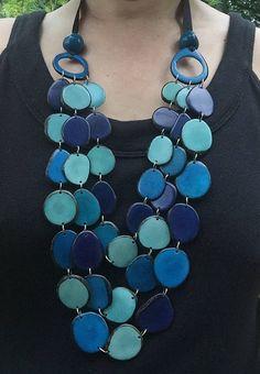 Collar de tagua collar de Ecofriendly nuez de Tagua collar
