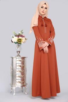 ** YENİ ÜRÜN ** Etamin Nakışlı Elbise Kiremit Ürün Kodu: LRJ507 --> 79.90 TL