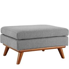 The MODWAY Engage Ottoman can look great alone or when coordinated with other pieces of furniture. This ottoman has a wooden build and fabric upholstery, allowing you to match it with various furniture pieces easily. Featuring a mid-century, modern s