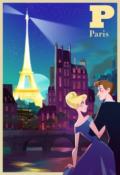 Victoria Ying's Art: Paris City poster