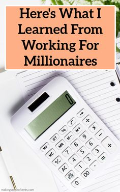 Here's What I Learned From Working For Millionaires #moneymanagementtips #tips