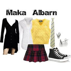 """Maka Albarn from Soul Eater"" by animeinspirations on Polyvore"