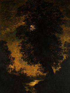 Resultado de imagem para night moon landscape paintings