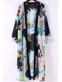 SHARE & Get it FREE | Printed 3/4 Sleeve Long Kimono BlouseFor Fashion Lovers only:80,000+ Items • New Arrivals Daily Join Zaful: Get YOUR $50 NOW!