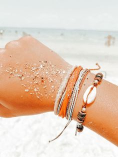 Summer Bracelets, Cute Bracelets, Summer Jewelry, Aesthetic Images, Aesthetic Collage, Aesthetic Photo, Orange Aesthetic, Summer Aesthetic, Aesthetic Pastel Wallpaper