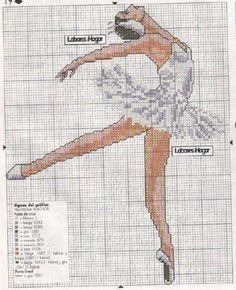 Ballerina cross-stitch