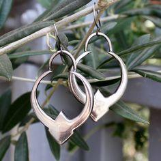 Kuruni Crescent Earrings // Sterling Silver