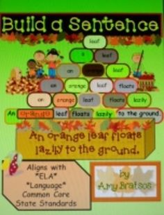"""This unique product provides a pyramid style template for building an interesting sentence one word at a time using""""parts of speech"""" vocabulary. Comprehension Activities, Writing Activities, Teaching Resources, Teaching Ideas, Teaching Grammar, Teaching Writing, School Resources, Writing Skills, Classroom Activities"""