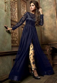 Exotic Midnight Blue #Pant #Kameez Set