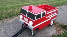 Firetruck built around radio flyer wagon.