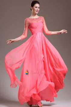 Pink Prom Dresses With Sleeves,Hot Pink Prom Dresses With Diamonds 2015