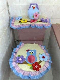 25 Idéias Maravilhosas de Artesanato em Feltro para Banheiro e Lavabo